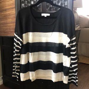 LOFT Striped, Graphic Lightweight Sweater!😘